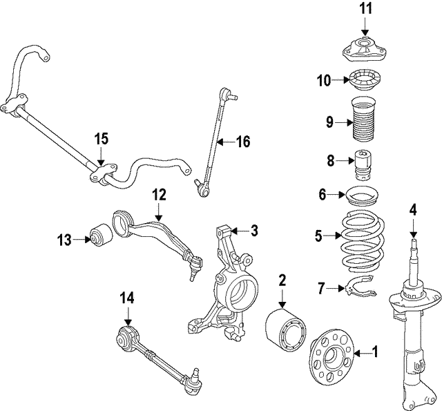 Strut - Mercedes-Benz (207-323-14-00)