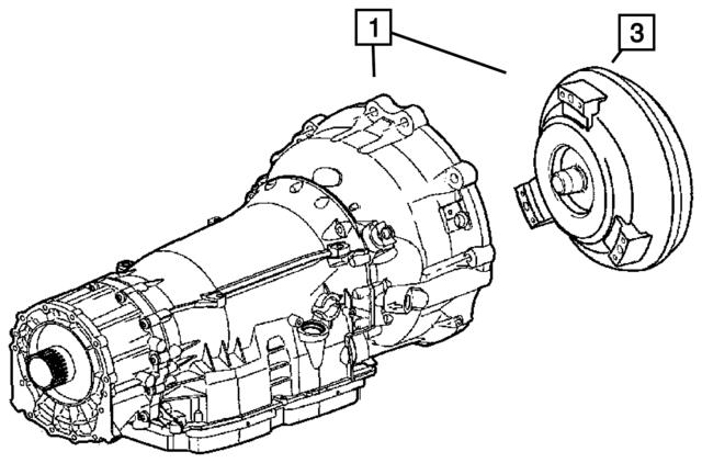 2007 2009 Jeep Grand Cherokee Torque Converter Remanufactured R5166
