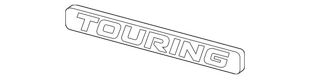 Genuine Honda Touring Emblem Nameplate 75716-T3Z-A01