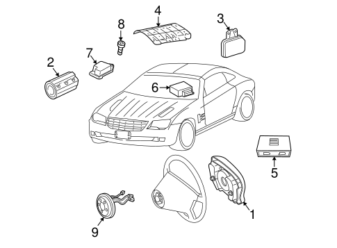 Air Bag Components For 2006 Chrysler Crossfire