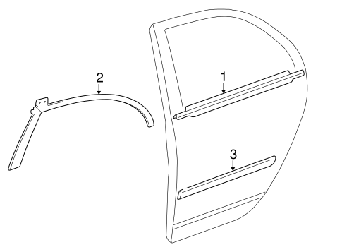 BODY/EXTERIOR TRIM - REAR DOOR for 2006 Toyota Corolla #1