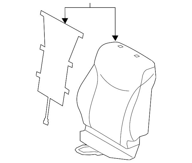 2015 2017 toyota prius v seat back cover 71073 47820 c5 manhattan Prius Drawing seat back cover toyota (71073 47820 c5)