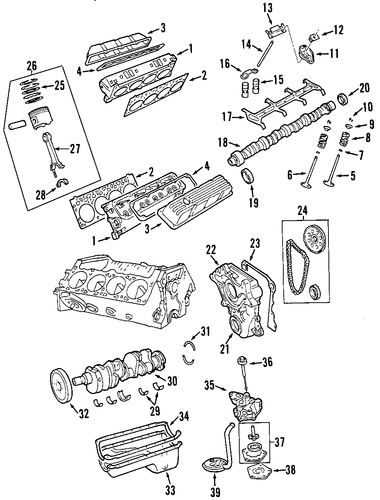 engine for 2000 dodge durango parts