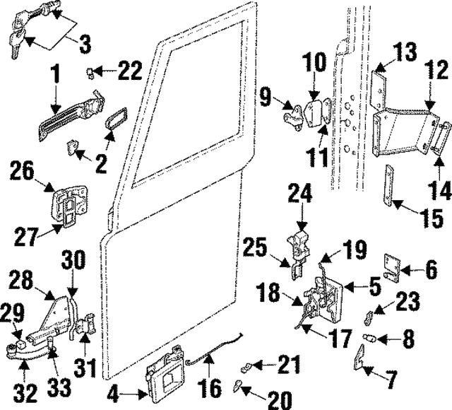 1997 land rover defender 90 lock knob housing ejs000011pma