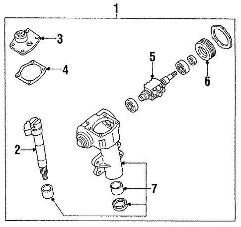 steering gear & linkage for 1997 nissan pickup #5