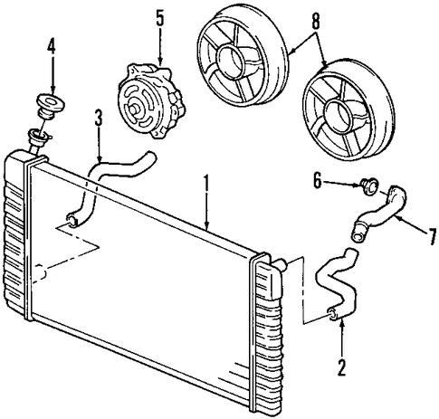 radiator components for 2000 pontiac montana. Black Bedroom Furniture Sets. Home Design Ideas