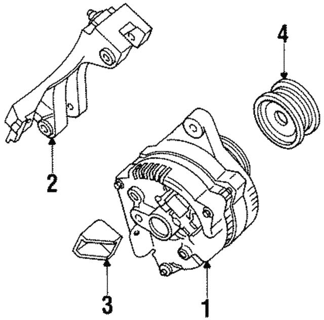 1995 2002 Ford Alternator Brace F5rz10b315a