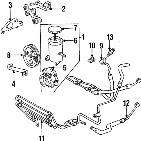 STEERING/PUMP & HOSES for 1998 Toyota Supra #2
