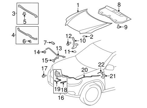 Hood Components For 2010 Toyota Highlander