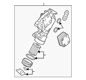 Oil Filter Housing - Volkswagen (077-115-401-AD)