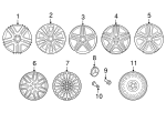 Wheel, Alloy - Mercedes-Benz (166-401-33-00-7X71)
