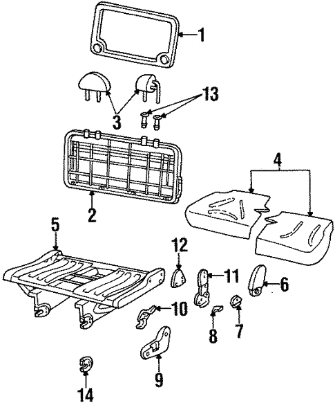 Seat Components For 1999 Mercury Villager