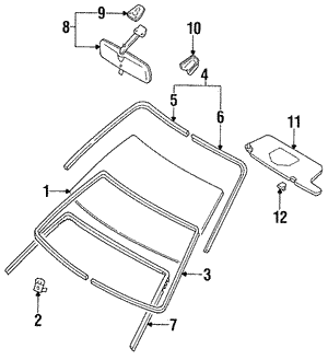 Sunvisor Holder (S14) - Nissan (96409-65F00)