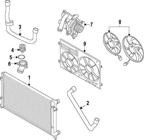 water pump for 2009 volkswagen tiguan vwpartscente. Black Bedroom Furniture Sets. Home Design Ideas