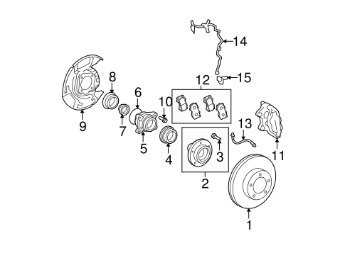 BRAKES/BRAKE COMPONENTS for 2012 Toyota Tundra #2