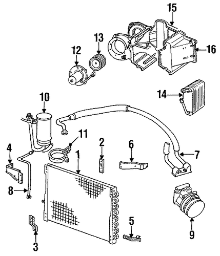 1993 Ford Bronco Camshaft: Evaporator Components For 1993 Ford Bronco