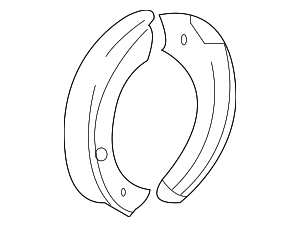 Park Brake Shoes - Ford (7L1Z-2A753-A)