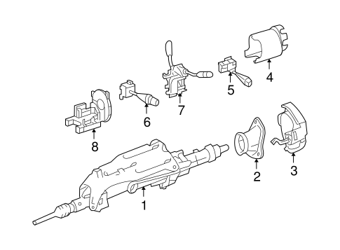 Steering Column Assembly for 2010 Mercedes-Benz ML 550 #0