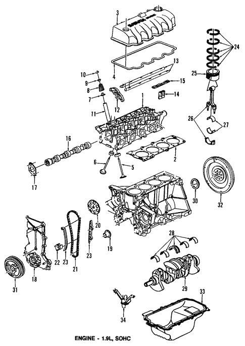 Oem 2001 Saturn Sc1 Engine Parts Parts