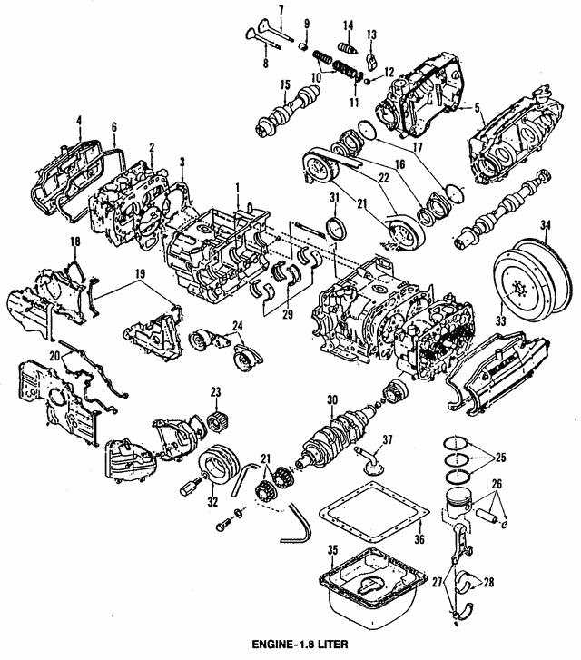 1985 1994 Subaru Timing Cover Gasket 13586aa001
