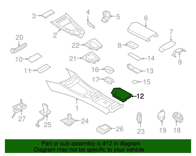 Bmw Z4 Storage Tray 51 16 9 181 226 My Bimmer Parts