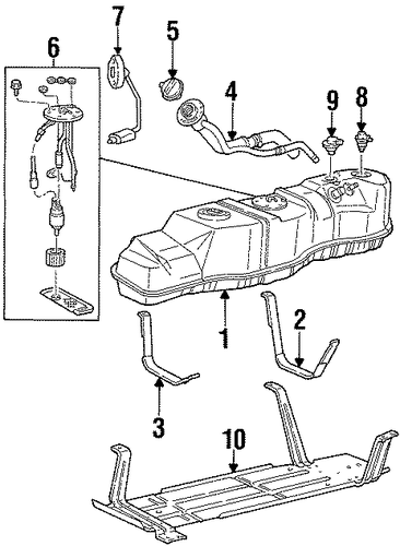 fuel system components for 2000 lincoln navigator