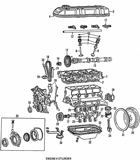 Engine Parts For 1985 Toyota Celica