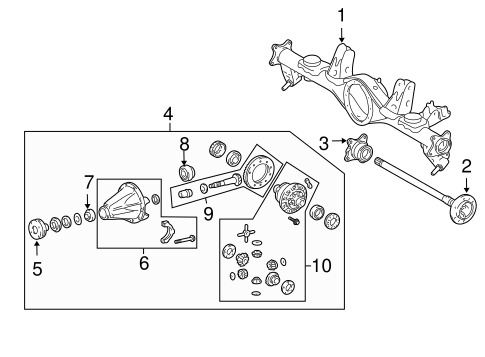 Axle Housing For 2016 Toyota 4runner