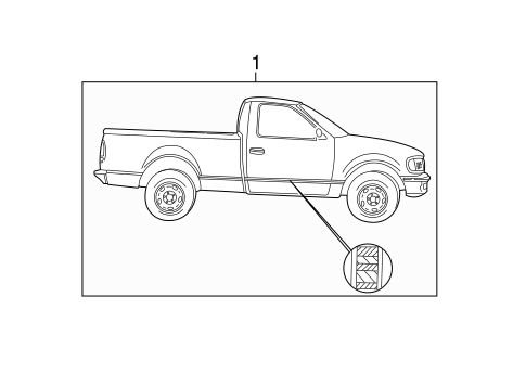 Body/Stripe Tape for 2003 Ford F-150 #6