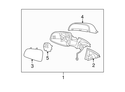 Outside Mirrors For 2007 Saturn Aura