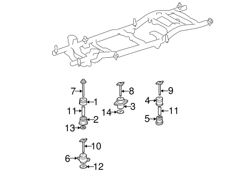 Frame Components For 2002 Toyota Sequoia