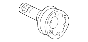 Stub Shaft - Mercedes-Benz (124-350-57-45)