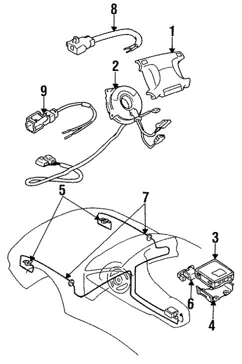 Air Bag Components For 1999 Mitsubishi 3000gt