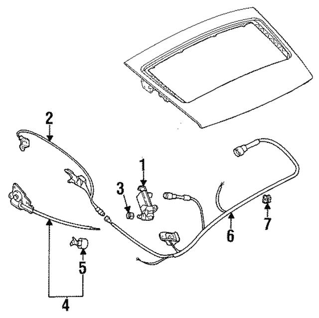 authentic oem porsche wire harness clip