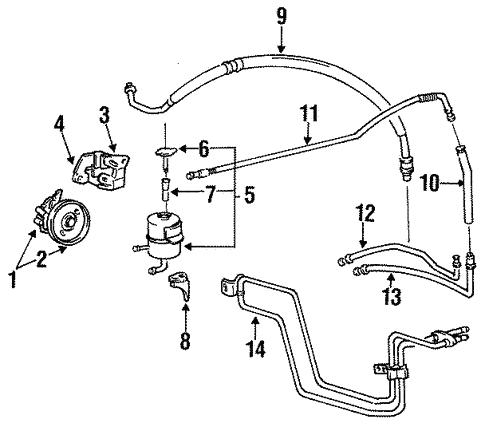 Pump Hoses For 1994 Hyundai Elantra