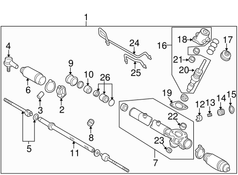 STEERING/STEERING GEAR & LINKAGE for 1999 Toyota Camry #2