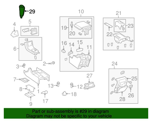 TOYOTA Genuine 33504-0C030-E1 Shift Lever Knob Sub Assembly