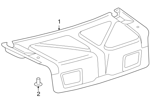 BODY/INTERIOR TRIM - TRUNK for 1998 Toyota Camry #1