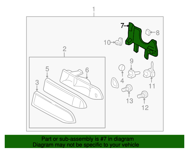 Left Genuine GM 16525517 Headlamp Bracket