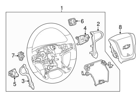 Oem Steering Wheel Trim For 2017 Chevrolet Suburban