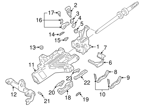 Steering/Upper Components for 2001 Ford Explorer Sport Trac #1