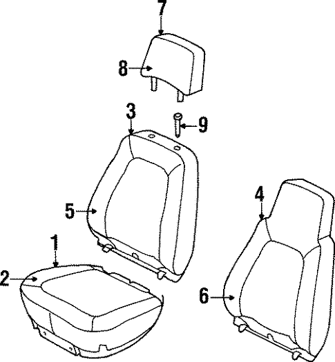 Front Seat Components For 2000 Jeep Cherokee