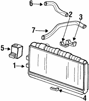 Cushion A, Radiator Mounting