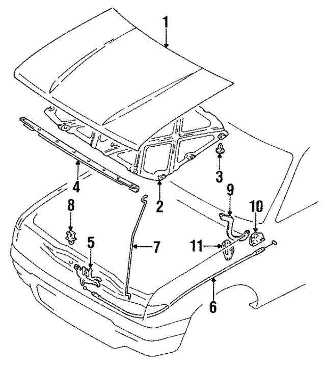 1989 1991 Toyota Lock Assembly 53510 89115