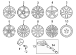 Wheel, Alloy - Mercedes-Benz (156-401-13-00-7X45)