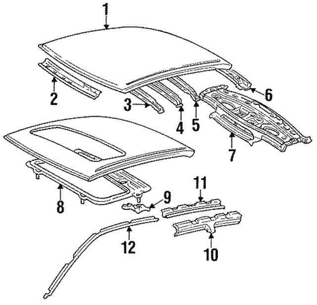 1992 1996 Toyota Camry Drip Rail 61261 32060