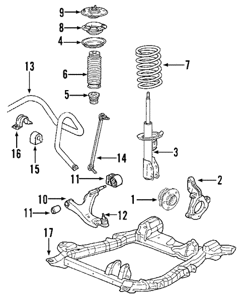 suspension components for 2008 pontiac torrent (gxp) gmpartsnow Car Suspension Diagram