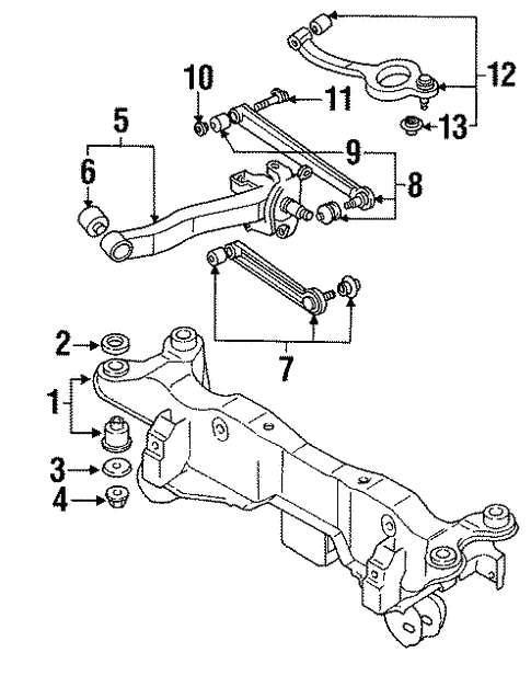 Rear Suspension For 1993 Mitsubishi 3000gt