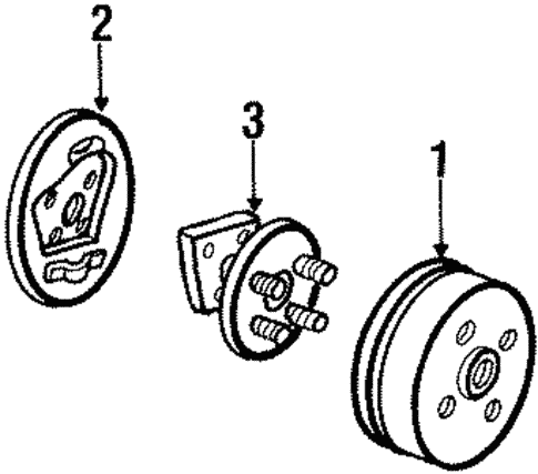 Rear Brakes for 1994 Pontiac Sunbird #0