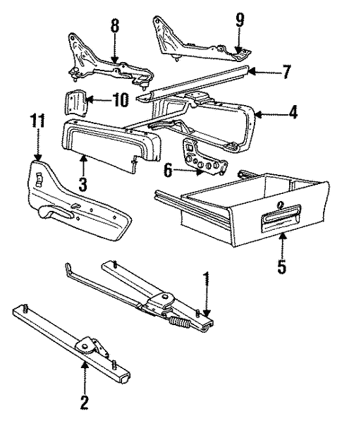 Tracks & Components for 1993 Chrysler Town & Country #1